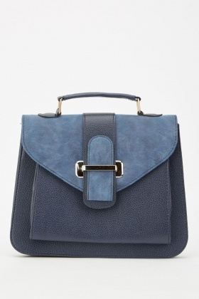 Textured Contrasted Brief Bag