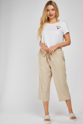 Casual Crop Chino Pants