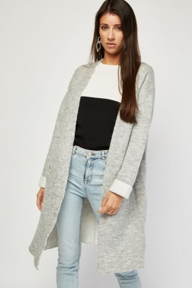 Rolled Sleeve Chunky Knit Cardigan £5.00
