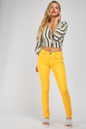 Yellow Skinny Fit Trousers