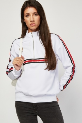 Tracksuit Jumper With Stripe Panel