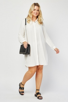 Crinkled Shirt Dress
