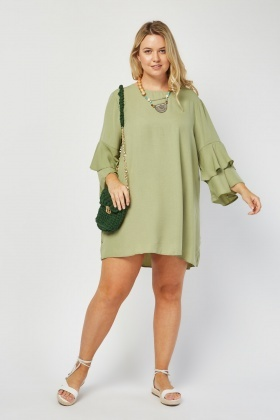 Layered Sleeve Tunic Dress