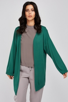 Tie Up Sleeve Knit Cardigan