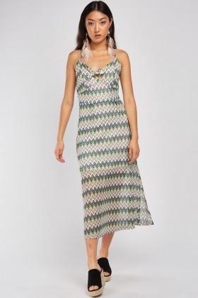 Zig-Zag Crochet Knit Dress