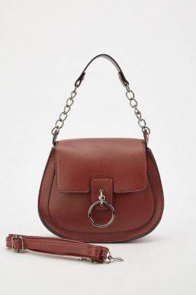 24d6f525b606 Flap Front Chain Strap Handbag