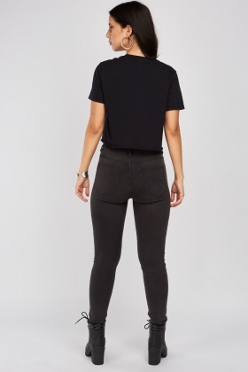 Charcoal Skinny Fitted Jeggings