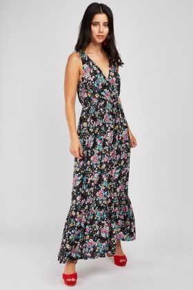 Ditsy Flower Print Maxi Dress