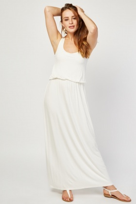 Gathered Basic Maxi Dress