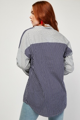 Two Tone Stripe Shirt