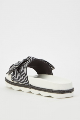 Bow Striped Sliders