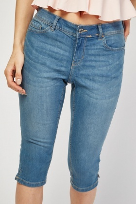 Skinny Denim Pedal Pushers