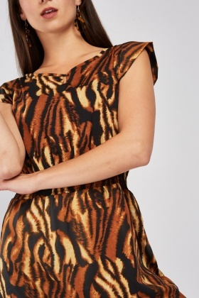 Tiger Print Mini Dress