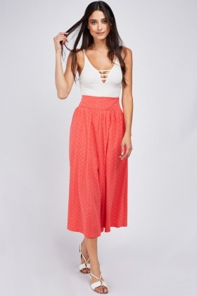Wide Leg Broderie Culottes