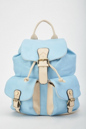 Multiple Buckle Front Backpack