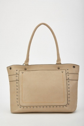 Studded Double Handle Tote Bag