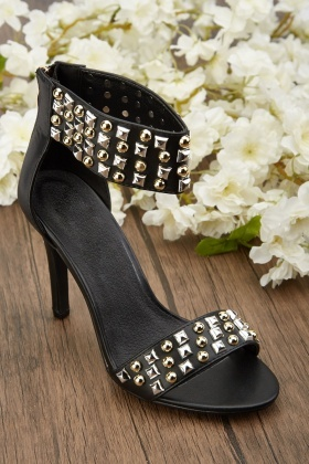 Studded Pencil Heel Sandals