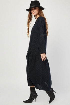 Broderie Anglaise Maxi Smock Dress