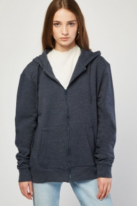 Zip Up Casual Hooded Jacket