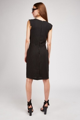 Pin Stripe Black Pencil Dress