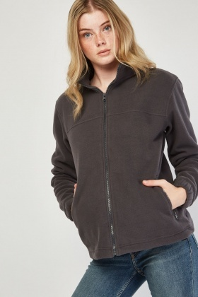 Zipper Front Poly-Fleece Jacket