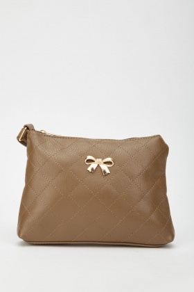 Bow Trim Quilted Bag