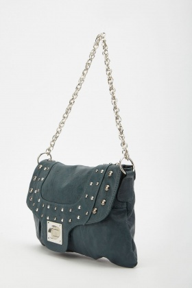 Studded Baguette Style Bag