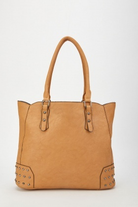 Studded Tote Shoulder Bag