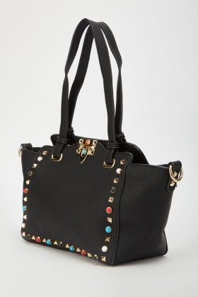 Studded Tote Winged Bag
