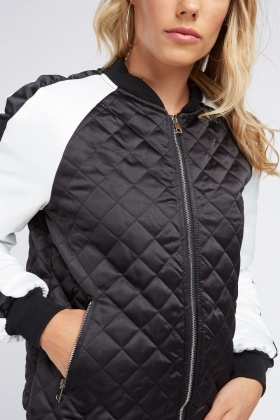 Colour Block Quilted Jacket