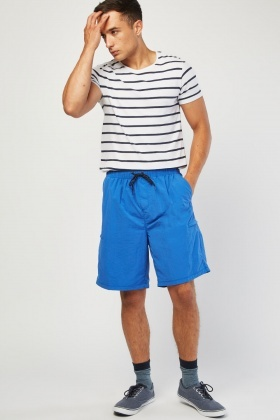 Zipper Side Pocket Shorts