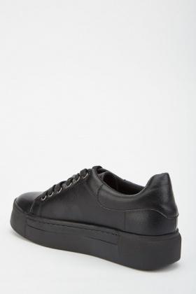 Black Platform Trainers - Just $6