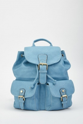 Twin Buckle Pocket Front Backpack
