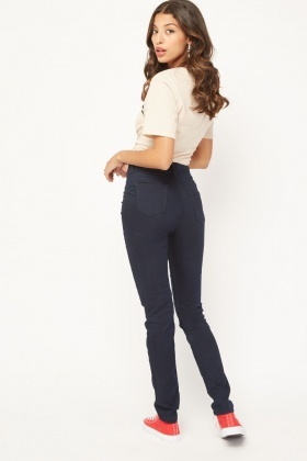 Navy Skinny Fit Jeggings