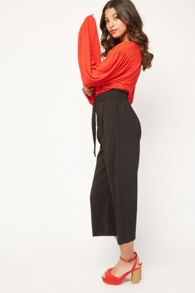 Tie Up Crop Length Trousers
