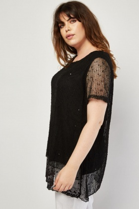 Bobble Textured Loose Knit Top