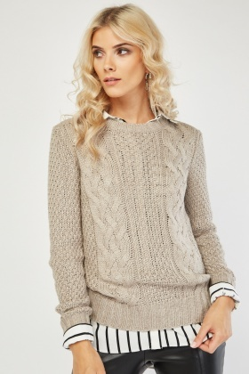 Cable Knitted Chunky Jumper