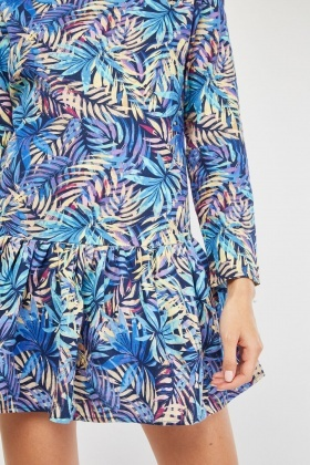 Tropical Print Mini Dress