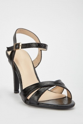 Black Criss Cross Strap Heels