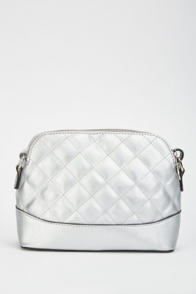 Metallic Quilted Shoulder Bag