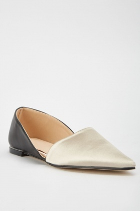 Pointed Toe Colour Block Shoes
