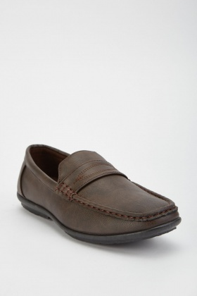 Top Stitched Mens Loafers