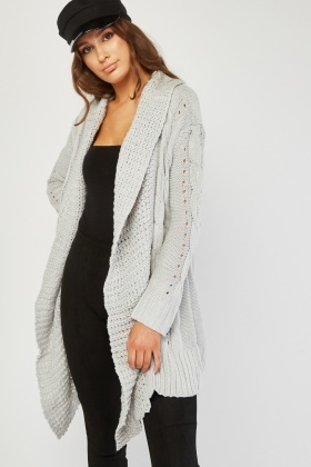 Chunky Cable Knitted Cardigan