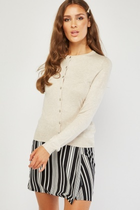 Long Sleeve Fine Knitted Cardigan