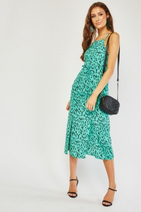 Speckled Midi Slip Dress