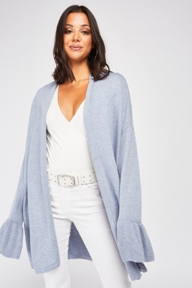 Bell Sleeve Knit Cardigan
