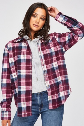 Checkered Flannel Shirt