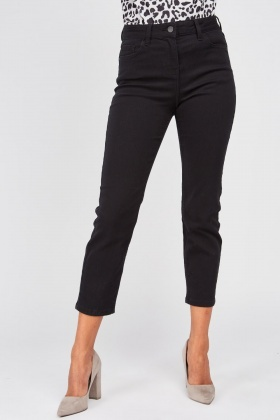 Mid Rise Ankle Grazer Jeans
