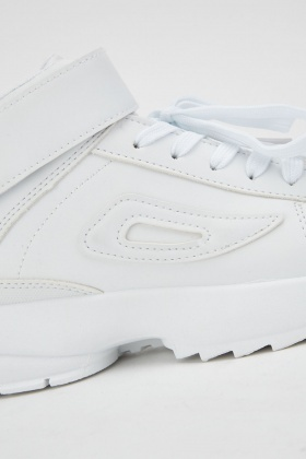 Hook And Loop Contrast Chunky Trainers
