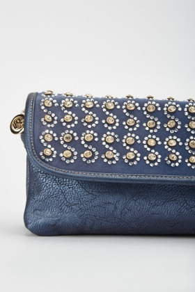 Rhinestone Encrusted Clutch Bag